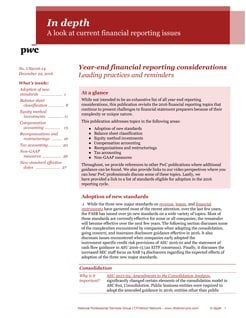 In depth: Year-end financial reporting considerations