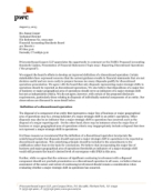 PwC comments on the proposed ASU: Reporting Discontinued Operations