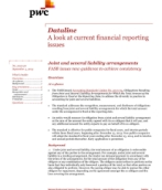 Dataline: Joint and several liability arrangements – FASB issues new guidance to achieve consistency
