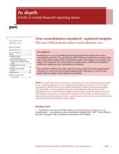 New consolidation standard - updated insights cover