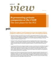 Point of view: Representing private companies at the FASB - The next phase for the PCC cover