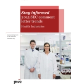 Health industries: 2015 SEC comment letter trends