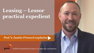 Leasing - Lessor practical expedient