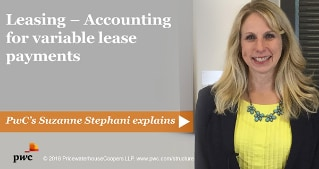 Leasing - Accounting for variable lease payments