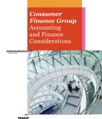 Consumer Finance Group Accounting and Finance Considerations – Winter 2014