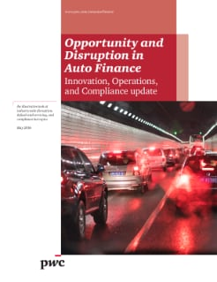 Opportunity and Disruption in the Automotive Finance industryCFPB lets lenders decide the fate of the auto dealer rate mark ups but outlines expectations