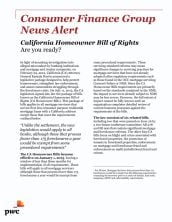 California homeowner bill of rights: Are you ready?