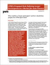 CFPB's Proposed Rule Defining Larger Participants in a Market for Auto Finance