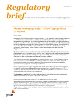 "Home mortgage rule: ""More""-tgage data to report"
