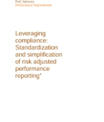 Corporate performance management: Leveraging compliance: Standardization and simplification of risk adjusted performance reporting*