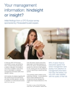 Corporate performance management: Your management information: Hindsight or insight?