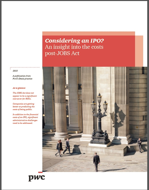 Considering an IPO? An insight into the costs post-JOBS Act
