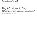 Reg AB Is here to stay: What does this mean for servicers?