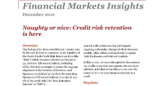 Naughty or nice: Credit risk retention is here