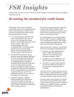 Financial Markets Insights: Re-setting the standard for credit losses