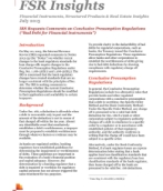 FSR insights: IRS Requests comments on Conclusive Presumption Regulations