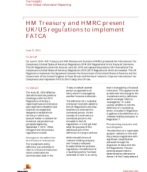 HM Treasury and HMRC present UK/US regulations to implement FATCA