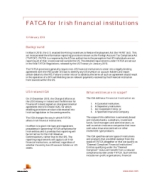 FATCA for Irish financial institutions