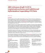 IRS releases draft FATCA registration forms and additional information regarding FFI lists