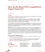 How do the final FATCA regulations impact insurers?