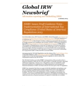 HMRC issues Draft Guidance Notes - Implementation of International Tax Compliance Regulations 2013 (US)