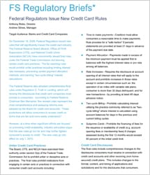 Federal regulators issue new credit card rules