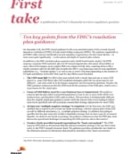 First take: Resolution plan guidance for CIDIs