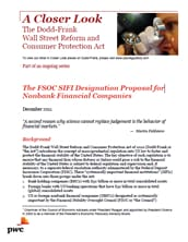 The FSOC SIFI Designation Proposal for Nonbank Financial Companies