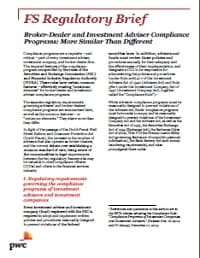 Broker-Dealer and Investment Adviser Compliance Programs: More Similar Than Different