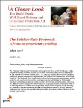 Proprietary Trading Prohibition of the Dodd-Frank Volcker Rule