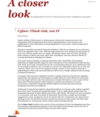 Cyber: Think risk, not IT