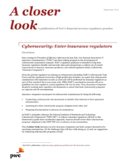 Cybersecurity: Enter insurance regulators