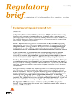 Cybersecurity: SEC round two
