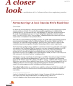 Stress testing: A look into the Fed's black box