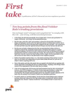 First take: Volcker Rule