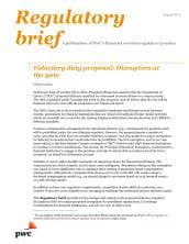 Fiduciary duty proposal: Disruptors at the gate