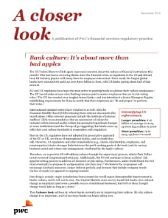 Bank culture: It's about more than bad apples