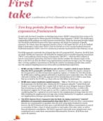 First take: Basel III large exposures framework
