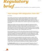 Asset manager SIFI designation: Enter SEC