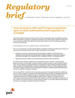 Asset managers: SEC and European regulators agree to share information and cooperate on oversight