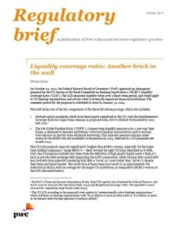 Liquidity coverage ratio: Another brick in the wall