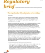 Foreign banks: US admission price rising