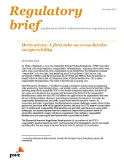 Derivatives: A first take on cross-border comparability