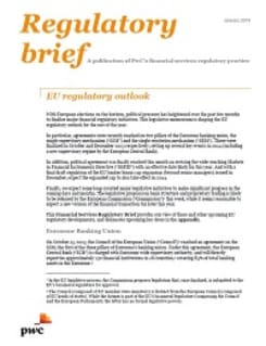 EU regulatory outlook