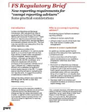 New reporting requirements for 'exempt reporting advisers'