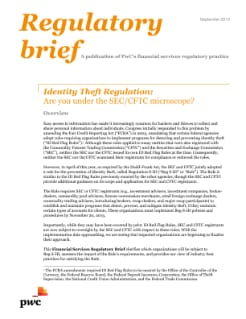 Identity Theft Regulation: Are you under the SEC/CFTC microscope?