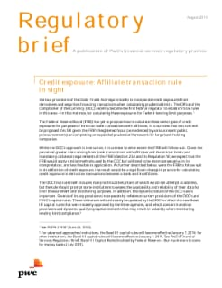 Credit exposure: Affiliate transaction rule in sight
