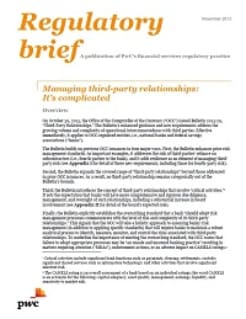 Managing third-party relationships: It's complicated
