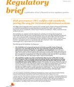 Risk governance: OCC codifies risk standards, paving the way for increased enforcement actions