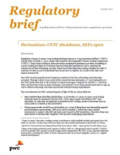 Derivatives: CFTC shutdown, SEFs open